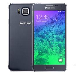 Wholesale 12mp Phone Ram - Refurbished Original Samsung Galaxy Alpha G850F 4G LTE 4.7 inch Quad Core 2GB RAM 32GB ROM 12MP Camera Unlocked Smart Mobile Phone DHL 1pcs