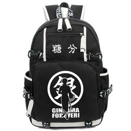 Wholesale Gintama Bag - Gintama Shoulder Bag Anime Cosplay Luminous Backpack Sakata Gintoki Casual Daypack Women Men Schoolbag Free Shipping