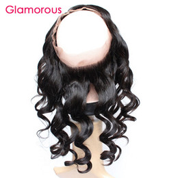Wholesale Eurasian Loose Wave - Glamorous Brazilian Human Hair 360 Frontal with baby hair 8-20In Loose Wave Peruvian Malaysian Indian Eurasian Hair 360 Lace Frontal Closure