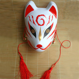 Wholesale Masks For Painting - Hand -Painted Fox Mask Endulge Japanese Full Face Pvc Halloween Animal Mask Masquerade Cosplay Party Masks Free Shipping