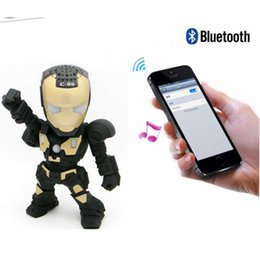 Wholesale Sd Card Speakers - Hot selling Portable Mini Bluetooth Speakers For Iron Man Wireless Smart Hands Free Speaker Support SD Card For Mobile Phone 3008005