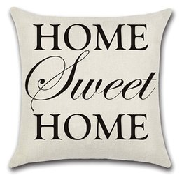Wholesale Cool Free Images - Home Cushion Flax Pillow Cover Sofa Accessory High Quality Summer Cool words image 15 models to Choose free shipping