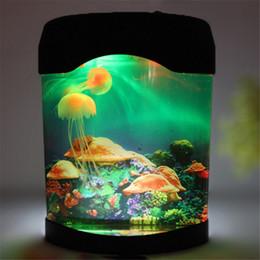 Wholesale Aquarium Touch - LED Night Lights Multicolor LED Light Jellyfish Tank Sea World Swimming Mood Lamp Night Light Aquarium Nightlight Decor Light