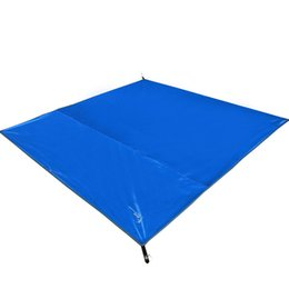 Wholesale Wholesale Inflatable Tents - Wholesale- 210 x 210cm Tent Mats 210D Oxford Fabric Double Person Moisture-Proof Mat for Outdoor Camping, with Carrying Bags