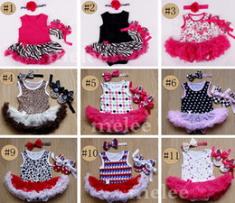Wholesale Girls Leopard Print Tutu Set - Infant INS Romper Outfits Girls Cute Animal Print Romper Sets Summer Infant Flower Leopard Jumpsuit + Headband + Lacing Bow Shoes For 0-18M