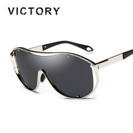 Wholesale Greens Today - Wholesale-Oversized Shield Steampunk Sunlgasses Women Men Unisex Fashion Cool Brand Female Mirror UV400 Rap Sun Glasses Today Offers