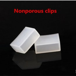 Wholesale Silicon End Caps - Wholesale-50 pcs Silicon clip, Nonporous end caps use for SMD 5050 3528 3014 5630 ws2801 ws2811 ws2812b waterproof led strip light