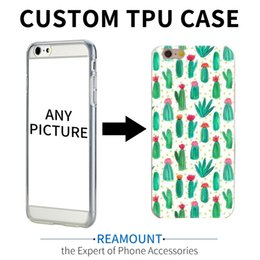 Wholesale Iphone Case Diy Design - Personalized Custom Design DIY TPU Case For iPhone 6 6S 6 Plus 6s Plus 5 5S 7 7 Plus Customized Transparent Cell Cover