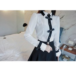 Wholesale Career Wear Tops - high quality career work shirts ladies white blouse office wear formal white shirt long sleeve tops