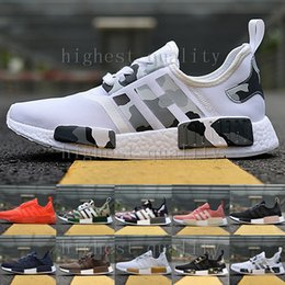 Wholesale Mens Casual Shoe Leather - Wholesale Cheap 2017 NMD R1 Monochrome Mesh Triple White Black Mens Women Running Shoes Sneakers Fashion NMD Runner Primeknit Casual Shoes