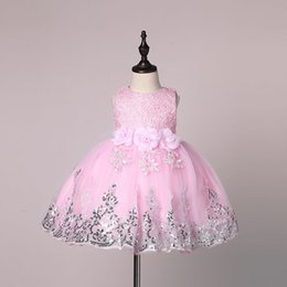 Wholesale Toddler Girls Christmas Clothes - Baby Girl Dress 2017 New Princess Infant Party Dresses for Girls Summer Kids tutu Dress Baby Clothing Toddler Girl Clothes