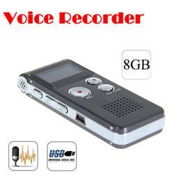 Wholesale Wholesale Digital Voice Recorders - Wholesale- by dhl or ems 10 pieces Rechargeable 8GB 8G USB VOR 650Hr Digital Audio Voice Recorder Dictaphone MP3 Player Free shipping
