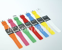 Wholesale Q Watches - Wholesale-SALES PROMOTION Multi-color iwatchz Q Collection Silicone Watch Strap Soft Case Cover for iPod Nano 6 6g 6th Gen Generation