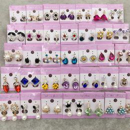 diamante opale nero Sconti Nuovi orecchini pendenti con diamanti a forma di diamante Orecchini a forma di corona principessa ciondola oro argento opale perlato orecchini di tendenza nero regalo di San Valentino DHL gratuito