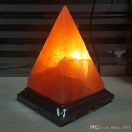 Wholesale Negative Ions Lamp - Fast shipping dimmable 2.4kg 5.29lb Pyramid himalayan salt lamp, negative ion natural himalayas salt night light, himalayan salt rock lamps