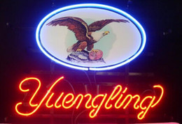 """Wholesale Neon Sign Eagles - New Yuengling Lager Eagle Light Neon Beer Sign Bar Sign Real Glass Neon Light Beer Sign 17""""X14"""""""