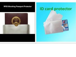 Wholesale Wholesale Blank Id Cards - Free shipping 10+3pcs RFID block sleeve blank cardsheild protected ID card Aluminium sleeve Anti Theft Credit Card shield 3 passport sleev