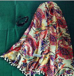 Wholesale Floral Scarves Wholesale - lady fashion floral pattern printing scarf long scarf beach summer scarves