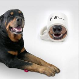 2020 narizes engraçados Moda Engraçado Doggy Caneca De Cerâmica Xícara De Chá De Café Asno De Cão Nariz ProjetadoCamfé Chá Xícara De Chá De Nariz De Cão Projetado Projetado desconto narizes engraçados