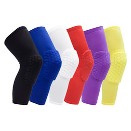 Wholesale Knee Protections - Hot 1 pc Honeycomb Sports Safety Tapes volleyball Basketball Kneepad Compression Socks Knee Wraps Brace Protection Knee Pads