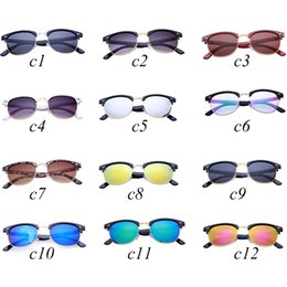 Wholesale Nails Film - sunglasses for men and womens sunglasses color film willow nail semi-metallic large frame yurt Fashion holiday winter 13 selection of color