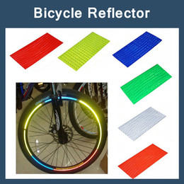 Wholesale Wheel Reflective Tape Bike - 8pcs pack Reflective Stickers Motorcycle Bicycle Reflector Bike Cycling Security Wheel Rim Decal Tape Safer velo