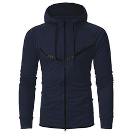 Wholesale Navy Shopping - Mens Zipper Cardigan Tracksuit For Hoodie Brand Casual Mens Hoodie For Navy Fashion Hooded Sweatshirt Drop Shopping