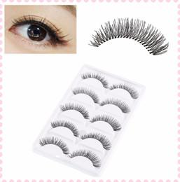 olho falso cílios conjunto completo Desconto 10 Pares / set Natural Esparsita Cross Eye Lashes Maquiagem Extensão Longa Cílios Falsos Cintilação Completa Cílios Frete Grátis