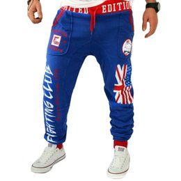 Wholesale British Flags - Wholesale- Winter Spring Fashion Men Joggers Leisure Men's trousers British national flag printing Design Loose Casual Men Jogger Pants
