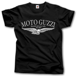 Wholesale Bikers T Shirts - MOTO GUZZI MOTORCYCLE T-SHIRT S - XXL MANDELLO DEL LARIO MOTORRAD 1921 BIKER Hip-Hop Simple Splicing Tee Tops T Shirt
