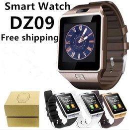 Wholesale Iphone Os - DZ09 Smart Watch GT08 U8 A1 Wrisbrand Android Iphone Smart SIM Intelligent Mobile Phone Watch Sleep State Smartwatch Box Package