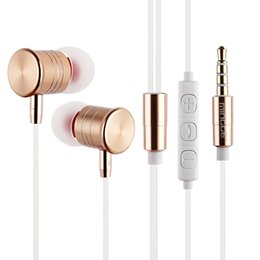 Wholesale Unique Engine - 2017 New High Quality Original metal MG6100 In-ear Unique Engine Supper Bass auriculares Headset With Mic with retail package