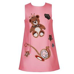 Argentina Niñas bebés vestidos de invierno 2017 marca niños princesa modo de vestuario enfant carácter imprimir niños vestidos para niñas ropa Suministro
