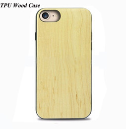 Wholesale Hard Wood Protector - For Iphone 6 6s 7 plus Wood Case Ultra-thin Soft TPU Wooden Bamboo Phone Case Back Cover For Samsung S8 S8plus Wooden Hard Shell Protector