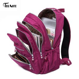 Wholesale coffee backpacks - TEGAOTE Classic Backpack for Women School Bag for Teenage Girls Nylon Backpacks Female Casual Travel Laptop Bag Mochila Feminina