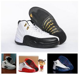 Wholesale Mens Shoes Names - Retro 12 XII Basketball Shoes Mens Designer Fashion Sneakers Brand Name Luxury Sports Shoes Trainers For Man With Original Box