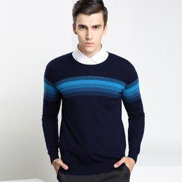 Wholesale Long Sleeve T Shirt Wool - 2016 new winter sweater Male Long Sleeve Fashion Casual Comfortable Sweater ans T-shirt jacquard sweater sleeve head