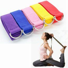 Fitness ejercicio correa de yoga ajustable D-Ring hebilla para estiramiento mujeres Yoga Stretch Strap gimnasio resistencia a la cuerda Fitness Bands desde fabricantes