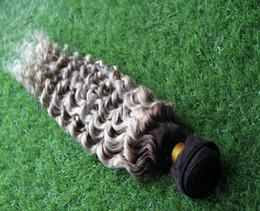 tessuto grigio ombre Sconti Ombre capelli brasiliani T1B / Grigio tessuto riccio umani 100g ricci ombre grigio tessuto dei capelli 1pcs brasiliani fasci di tessuto dei capelli