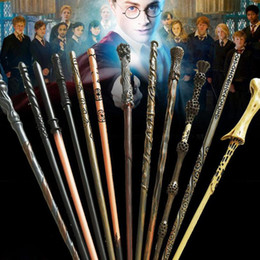 Wholesale Wholesale Wooden Toy Boxes - Harry Potter Magic Wand with Ollivanders Wand Box 48 Roles Hermione Voldermort Magic Wands with Metal Core Halloween Cosplay Novelty Toy