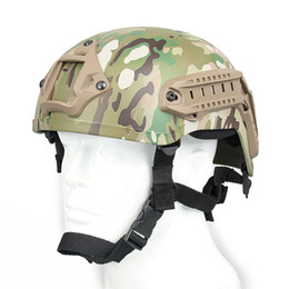 Wholesale Tactical Airsoft Helmet - Outdoor Tactical Camoufllage Protective Helmet Airsoft Gear Paintball Head Protector with Night Vision Sport Camera Mount