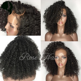 Wholesale Wigs For Black Ladies - Silk Top 5x4.5'' Lace Front Wigs For Black Women Kinky Curly Brazilian Remy Silk Top Human Hair Wigs With Baby Hair