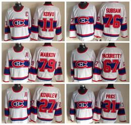 Wholesale Hockey Jerseys 79 - Throwback Montreal Canadiens Hockey Jerseys 1946 CCM 31 Carey Price 67 Max Pacioretty 79 Andrei Markov 27 ALEX KOVALEV 11 SAKU KOIVU Jerseys