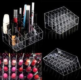 acryl make-up-organisatoren Rabatt Acryl 24 Lippenstifthalter Display Ständer Cosmetic Organizer Make-up Fall Make-up Veranstalter e Display Ständer Rack Halter KKA2379
