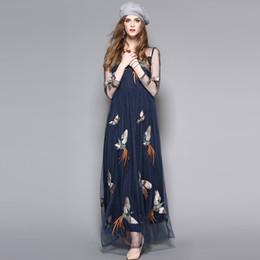 Boho personnes hippie Beach Mesh Style broderie robes de dentelle pure en mousseline de soie fil net Slim femmes robe sexy ? partir de fabricateur