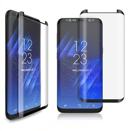 Wholesale Tempered Glass Scales - New Arrived 3D Curved Full Cover For Samsung Galaxy S8 Plus Screen Protector Film Scaled Down Mini Tempered Glass With Retail Package