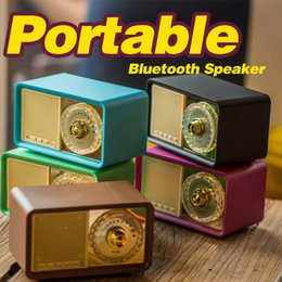 Wholesale Retro Phone Speaker - Good quality AIBIMY MY100BT Retro Bluetooth Speaker Portables Charge 2 Stereo Bluetooth Waterproof Speakers Various colors