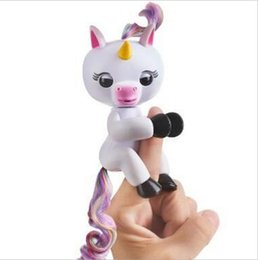 Wholesale Unicorns Toys - Unicorn Finger Baby Unicorn Finger ling Monkey Retail Packaging Smart Interactive Touch Interactive Chrismams Halloween Toy by DHL Toy99