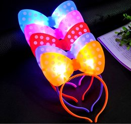 Wholesale Pin Up Kids Wholesale - New Arrival Christmas LED Butterfly Knot Hair Clip Pins Headbands Light Up Prom Dress Up Rave Toy for Halloween Xmas Party Supplies