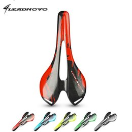Wholesale Original Design LEADNOVO hollow carbon saddle K glossy matte full Carbon Fiber Bicycle Saddle Bike Seat super light cycling bike parts